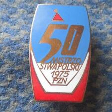 50 th POLAND CHAMPIONSHIPS SKI SKIING SKI JUMPING NORDIC 1975 ENAMEL PIN