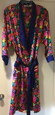 Victorias Secret Vintage Satin Floral Patterned Long Robe Gown Lingerie Small