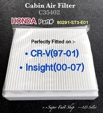 Honda CRV Insight Quality AC CABIN AIR FILTER C35402 CRV97-01 & Insight00-07^o^