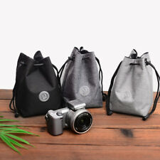 Waterproof Nylon Protector Bag Case Drawstring Pouch Camera & Lenses For DSLR
