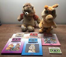Huge Rare Vintage Teddy Ruxpin Bear & Grubby Lot - Books & Tapes