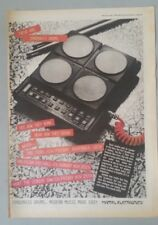 "SYNSONICS DRUMS ORIGINAL 1983 Magazine Advert Size 12"" X 17"" approx"