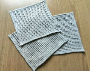 "100% Linen Towel - Soft Beige Waffle Linen Washcloth 12x12"" Unpaper Towel - 5pc."