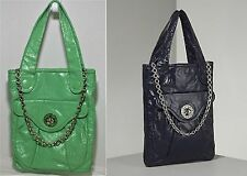 MARC BY MARC JACOBS POSH TURNLOCK FLAT SHOPPER BAG HANDBAG MINT PATENT $450
