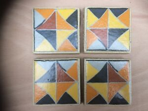 Floor Tile Decor Patterned Inserts, Box Of 24 Pieces