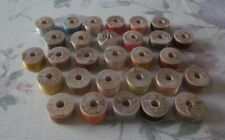 Vintage Antique Lot of 29 Spools Belding Corticelli Button Hole Silk Twist