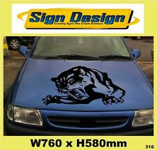"""TIGER"" CAR ROOF/BONNET  DECALS GRAPHICS STICKER 316"