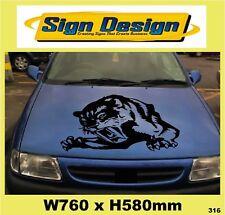 """TIGER"" CAR ROOF/BONNET  DECALS GRAPHICS STICKER 316"