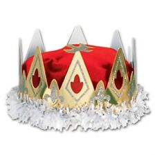 Royal Queen's Crown Red Adult Size Medieval Renaissance Decorations