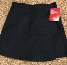 Nwt Dickies Girl's Wrap Skort, Easy Care, Stain Release, Navy Blue, Sz 8