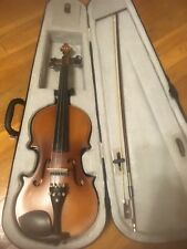Full Size 4/4 Acoustic Electric Violin Fiddle Solid Wood Body Ebony