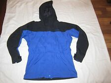 Used Marmot Womens Cute Blue & Black Goretex Windbreaker Fall Jacket Coat Sz M