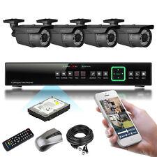 4 x 1000TVL 60M IR Cut Outdoor Varifocal HD-MI Plug Play P2P CCTV Package 1000GB