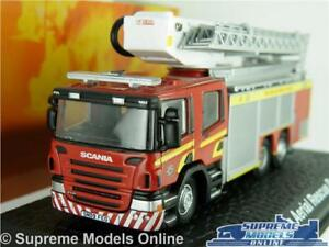 SCANIA AERIAL LADDER MODEL FIRE ENGINE FIFE 1:76 SIZE OXFORD RED SCOTLAND K8