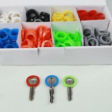 24PCS KEY CAP CAPS TOP COVERS TAGS ID MARKERS MARKER KEYRING MIXED COLOURS