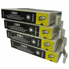 4 T1291 Ink Cartridges to fit Epson Printers - UK VAT Invoice