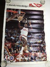 Vintage 80s  Orlando Woolridge Chicago Bulls Pony Sneakers NBA Basketball Poster