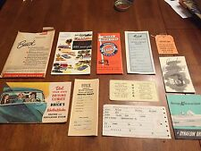 ORIGINAL 1951 BUICK OWNERS MANUAL WITH ENVELOPE / PAPERS