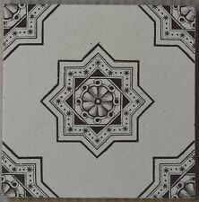 ANTIQUE - VICTORIAN MAJOLICA TILE C1900