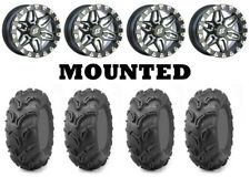 Kit 4 Maxxis Zilla 27x10-14 on Sedona Split Six Beadlock Machined Narrow FXT
