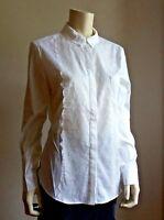 🌸New#  MAX&CO MAX MARA Cotton&Lace Blouse size 12 USA_ 16 GB_ 48 I_ 44 D_46 F