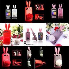 TPU Rabbit-conejo Bunny case con caídas funda protectora de silicona