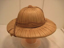 OLD MILITARY FORIGN LEGAND STRAW HAT SHADE HAT GARDENING HAT COLLECTIABLE