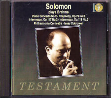 SOLOMON: BRAHMS Piano Concerto No.2 Rhapsody Intermezzo ISSAY DOBROWEN CD