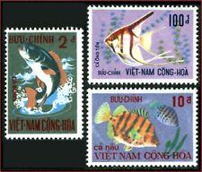 VIETNAM du SUD N°407/409* Poissons, 1971 South Vietnam Sc#402-404 Fishes MH
