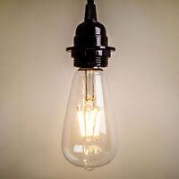 2W 4W 6W 8W E27 ST64 Dimmerabile Lampadina Lampada LED VINTAGE RETRO FILAMENTO