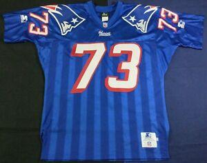 Rare Vintage 90's New England Patriots NFL John Hannah #73 Starter Jersey Size48