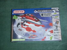 """2010 Meccano Erector Set """"Space Chaos Silver Force"""" 3150A - 2 Models/Transforms"""