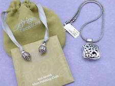 BRIGHTON Necklace Bali STERLING SILVER Treasures TOSSED HEARTS NEW $225 *RARE*