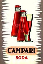 VINTAGE ITALIANO CAMPARI SODA C. 1970 Pubblicità Poster A3 RISTAMPA