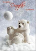 Daughter Christmas Card - Medium Size