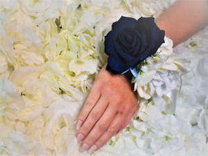 Navy  Corsage ~ Sparkling Wedding Corsage ~ Mother of the bride ~ Prom ~ Wrist