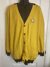 Star Trek Loot Wear Exclusive Cardigan Data Spot Cat Womens 3x  Yellow