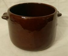 ANTIQUE VINTAGE BEAN POT CROCK BROWN GLAZE WEST BEND Y