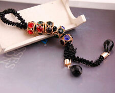 Fashion Women Crystal Rhinestone Beads Pendant Long Sweater Chain Necklace Gift