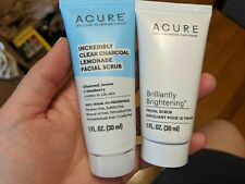 Acure Incredibly Clear Charcoal Lemonade & Brilliantly Brightening Facial Scrubs