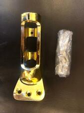 "National Hardware V1907 1"" Flag Pole Bracket in Solid Brass Plated Aluminum USA"