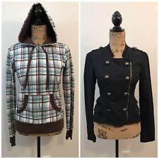 2 Juniors Size Medium Coats Jacket Hoodie Self Esteem & Miley Cyrus Max Azria