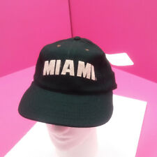 MIAMI HURRICANES - NEW FOOTBALL HAT - GREEN FLAT BRIM  WOOL BLEND