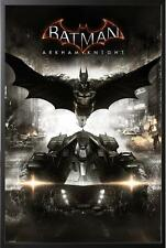 Batman Arkham Knight Movie Poster Dry Mounted in Black Wood Frame 24x36
