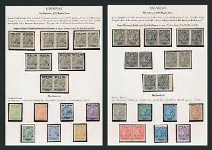 PARAGUAY STAMPS 1903 LION, KRAUS PROOFS/ IMPERF ESSAYS FOR BOTH ISSUES IN PAIRS