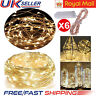 6 Pack 20LED 2M Battery Micro Rice Wire Copper Fairy String Lights Party Decor