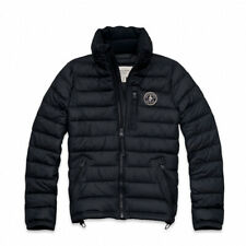 NWT ABERCROMBIE & FITCH A & F Men's NEWCOMB LAKE PACKABLE PUFFER JACKET Navy ~ L