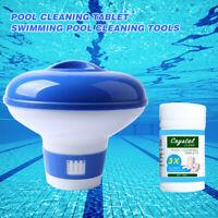 100G Pool Cleaning Tablet Floating Chlorine Hot Tub Chemical Dispenser UK