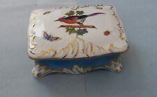 Herend Rothschild Bird Hand painted Trinket Box Circa 1915-1930's Rare
