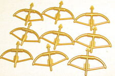 LEGO LOT OF 9 PEARL GOLD CASTLE BOW AND ARROW WEAPONS